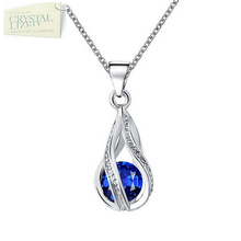 Load image into Gallery viewer, Swarovski Crystal Drop Pendant with Necklace