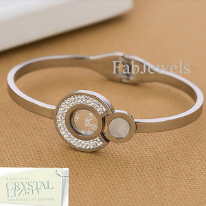 High Quality Stainless Steel Bangle with Swarovski Crystals