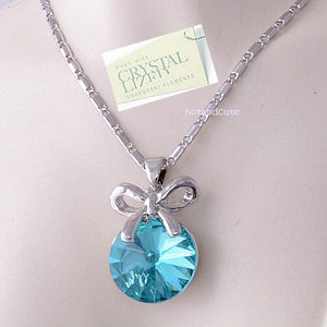 18ct Gold Plated Chain with Turquoise Swarovski Crystal Pendant
