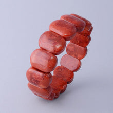 Load image into Gallery viewer, Red Coral Gemstones Bracelet