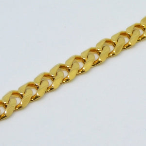 Chunky Solid Stainless Steel 316L Gold Plated Curb Chain Bracelet