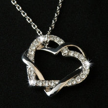 Load image into Gallery viewer, 18ct Gold Plated Necklace with Swarovski Heart Pendant