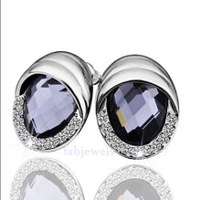 Load image into Gallery viewer, Swarovski Crystal White Gold Plated Set