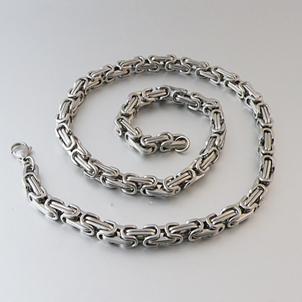 Stainless Steel Bali Chain Necklace