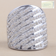 Load image into Gallery viewer, High Quality Stylish Stainless Steel 316L RING with Sparkling Swarovski Crystals
