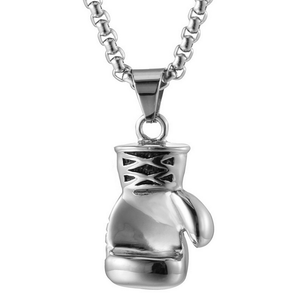 Boxing Glove Stainless Steel Pendant with Necklace