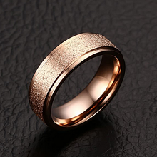 Load image into Gallery viewer, Stunning Stainless Steel Rose Gold Plated Frosted Ring