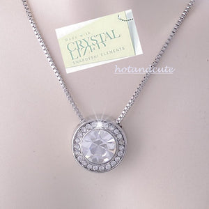 White Gold Plated Necklace with Swarovski Crystals Pendant