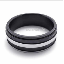 Load image into Gallery viewer, Stainless Steel 316L Fashionable Mens Ring Silver and Black