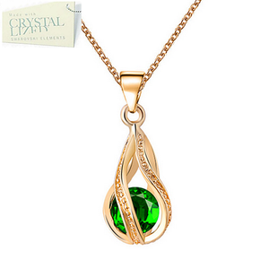 Swarovski Crystal Drop Pendant with Necklace