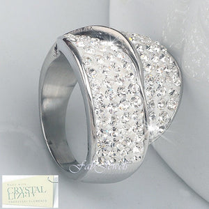 High Quality Stylish Stainless Steel 316L Ring with Swarovski Crystals