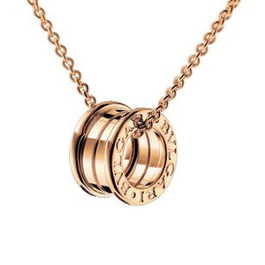 Stainless Steel 316L  Necklace Rose Gold Plated Yellow Gold Plated Silver