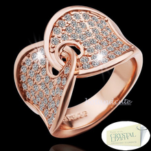Load image into Gallery viewer, Rose Gold Plated Ring with Swarovski Crystals