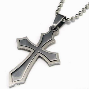 Stainless Steel Stylish Cross Pendant and Necklace