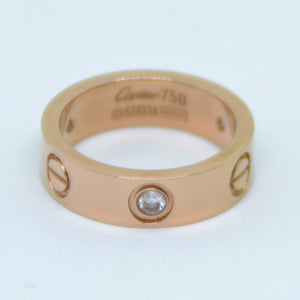 Stainless Steel Yellow/ Rose Gold Plated Silver Ring with Swarovski Crystals