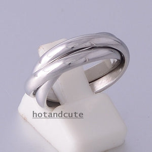 Stylish Stainless Steel 316L 3 Band Russian Ring Never Fade