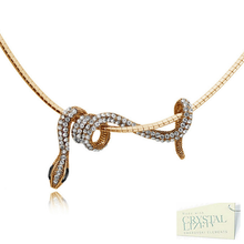 Load image into Gallery viewer, 18ct Rose Gold Plated White Gold Plated Snake Necklace Chocker