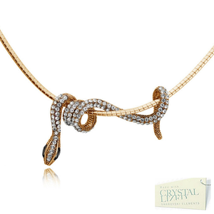 18ct Rose Gold Plated White Gold Plated Snake Necklace Chocker