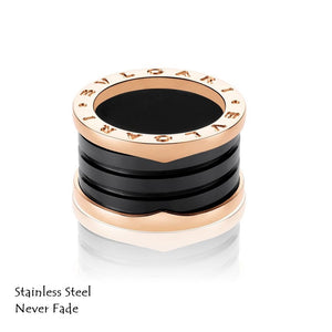 Stainless Steel Rose Gold Plated Ring Earrings Hypoallergenic