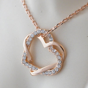 Rose Gold Plated Heart Pendant