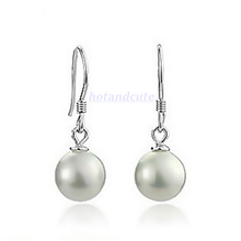 Load image into Gallery viewer, White Gold Plated Pearl Set Earrings Necklace and Pendant