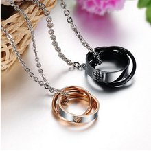 Load image into Gallery viewer, Stainless Steel 316L Couple Necklaces  with Swarovski Crystals