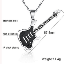 Load image into Gallery viewer, Stainless Steel Guitar Pendant with Necklace