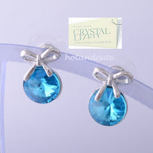 Load image into Gallery viewer, 18K GOLD PLATED EARRINGS With Turquoise SWAROVSKI CRYSTALS