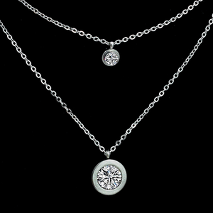 High Quality Stainless Steel 316L Multi Layer Necklace with Swarovski Crystals
