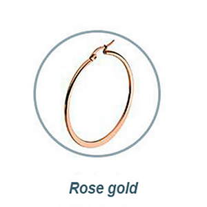 Rose Gold Plated Stainless Steel Loop Earrings Hypoallergenic Different Sizes