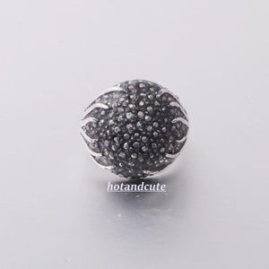 White Gold Plated Ring with Marcasites Stones Vintage Style