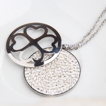 Load image into Gallery viewer, 316L Stainless Steel Swarovski Crystals Long Sweater Heart Necklace