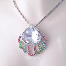 Load image into Gallery viewer, Platinum Plated Shell Necklace with Swarovski Crystals