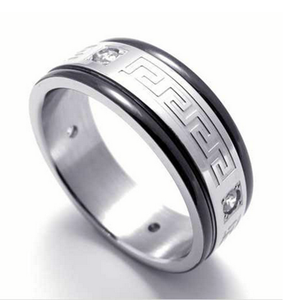 Stainless Steel Trendy Men's Ring