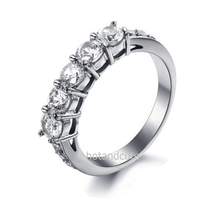 Load image into Gallery viewer, Stainless Steel 316L Eternity Ring with Swarovski Crystals
