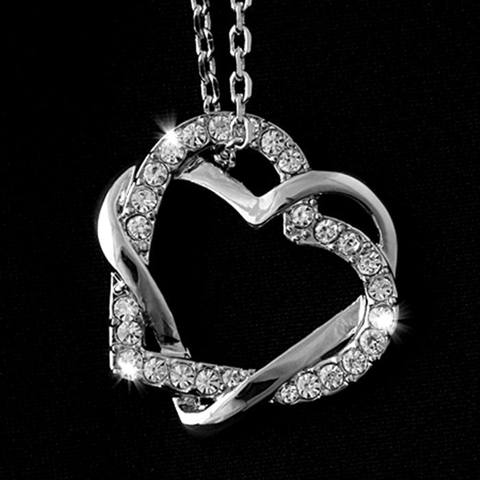 18ct Gold Plated Necklace with Swarovski Heart Pendant