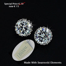 Load image into Gallery viewer, High Quality 18k Gold Plated Earrings with Brilliant Swarovski Crystals