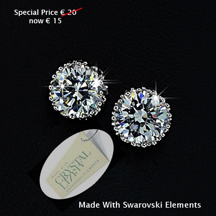 High Quality 18k Gold Plated Earrings with Brilliant Swarovski Crystals