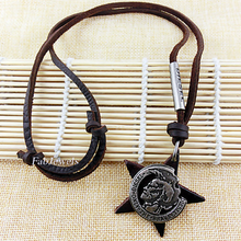 Load image into Gallery viewer, Fashionable Stainless Steel and Leather Neckalce