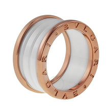 Load image into Gallery viewer, Stainless Steel Rose Gold Plated Ring Earrings Hypoallergenic