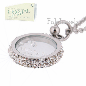 Stainless Steel 316L Necklace with Moving Swarovski Crystals