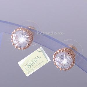 High Quality 18k Rose Gold Plated Earrings with Brilliant Swarovski Crystals