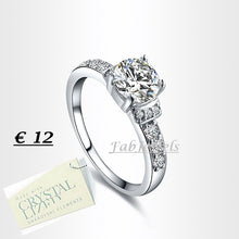 Load image into Gallery viewer, High Quality 18ct White Gold Plated Ring with Brilliant Swarovski Crystals
