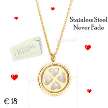 Load image into Gallery viewer, 316L Stainless Steel Gold Plated Swarovski Crystal Heart Pendant with Necklace