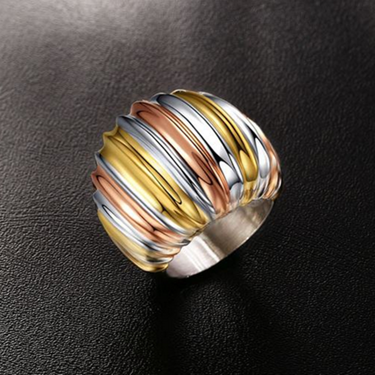 Stainless Steel 3 Colour Stylish RING