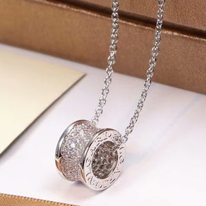 S/Steel Rose Gold / White Gold / Yellow Gold Plated Necklace with Swarovski Crystals