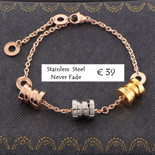 Stainless Steel 316L 3 Tone High Quality Bracelet