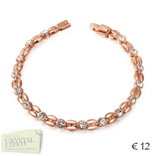 Load image into Gallery viewer, 18k Rose Gold Plated Bracelet with Swarovski Crystals