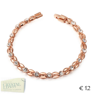 18k Rose Gold Plated Bracelet with Swarovski Crystals