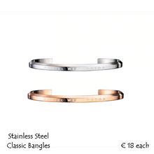 Load image into Gallery viewer, Rose Gold Plated or Silver on Stainless Steel Classic Cuff Bracelet.